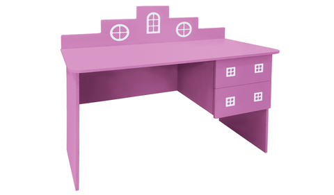 розовый письменный стол в детскую
