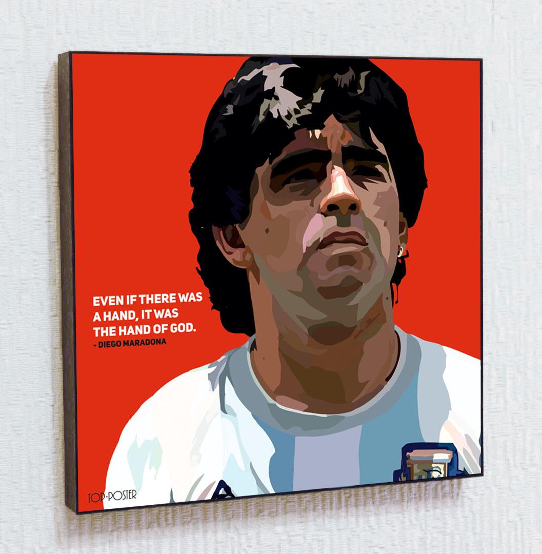 Диего Марадона Картина ПОП-АРТ портрет постер