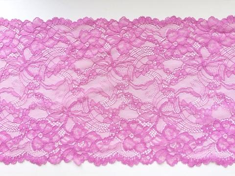 Эластичное кружево, 21 см, розово-лиловый, (Арт: EK-1054), м