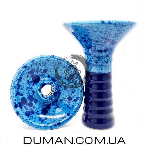 Чаша GrynBowls для кальяна  Big Alien Dark Blue-Blue