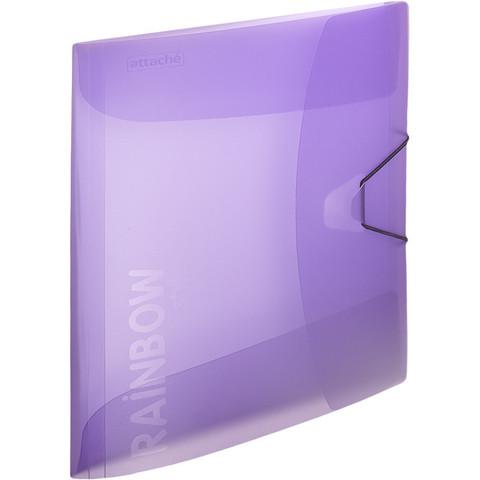 Папка на резинках Attache А4 пластиковая фиолетовая (0.45 мм, до 200 листов)
