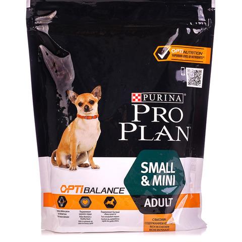 ПРОМО! Pro Plan сухой корм для собак мелких и карликовых пород (курица) 700+100г
