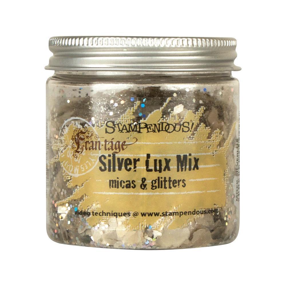 Слюда с глиттером - SILVER LUX MIX micas & glitter