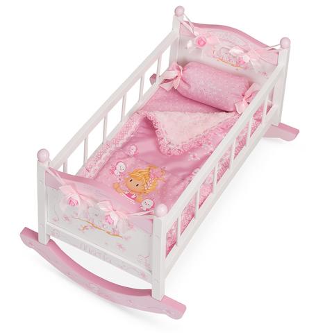 DECUEVAS Кроватка-качалка для куклы серии Мария,56см