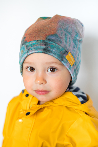 детская шапка из турецкой шерсти Питер пудровая