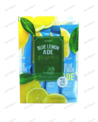 Корейский сироп для приготовления напитков со вкусом лимона Blue Lemon Ade, 15 пак. по 30 гр.