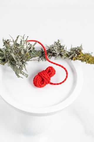 Хлопковый витой шнур красный 2 мм