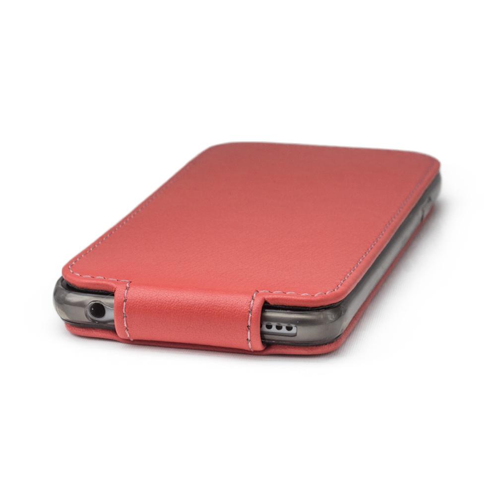 Чехол для iPhone 6/6S Plus из натуральной кожи теленка, кораллового цвета