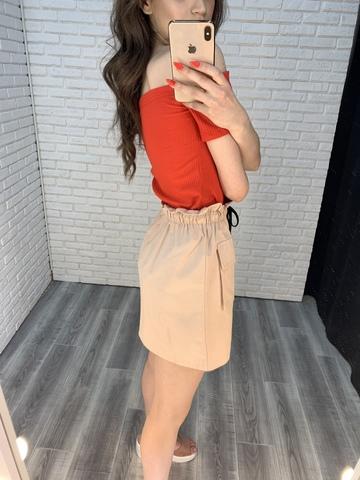 розовая юбка резинка недорого