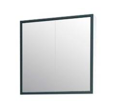 Зеркало-шкаф Corozo Айрон 60, черный/белый