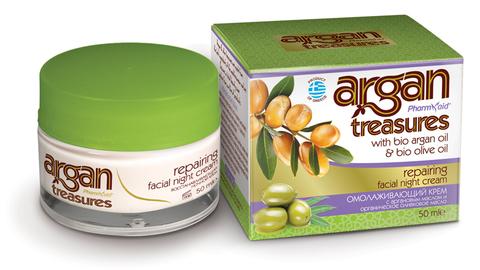 Ночной крем для лица Восстанавливающий ARGAN TREASURES от Pharmaid