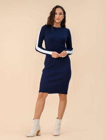 Женское платье темно-синего цвета - фото 3