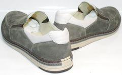 Мужские стильные туфли смарт кэжуал IKOC 3394-3 Gray.