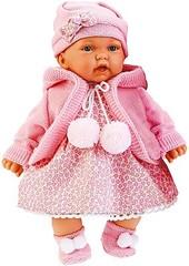 JUAN ANTONIO munecas Кукла Азалия в розовом, озвучена, 27 см (1220P)