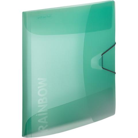 Папка на резинках Attache А4 пластиковая зеленая (0.45 мм, до 200 листов)