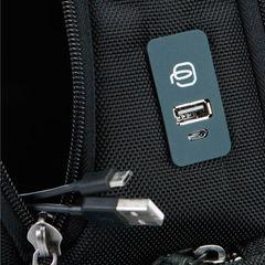 Рюкзак Piquadro Brief CA4439BRBM/N черный натур.кожа/ткань