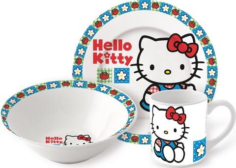 Привет Китти Киска Набор керамической посуды — Posuda Hello Kitt