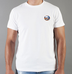 Футболка с принтом НХЛ Нью-Йорк Айлендерс (NHL New York Islanders) белая 008