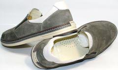 Мужские туфли мокасины IKOC 3394-3 Gray.