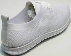 Повседневные женские кроссовки лето Small Swan NB-821 All White.