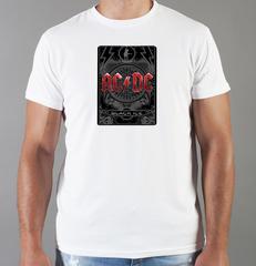 Футболка с принтом AC DC (Рок) белая 001