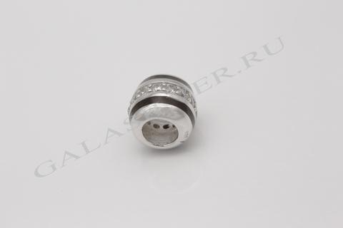 Подвеска с эмалью и фианитом из серебра 925