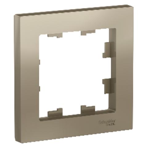 Рамка на 1 пост. Цвет Шампань. Schneider Electric AtlasDesign. ATN000501