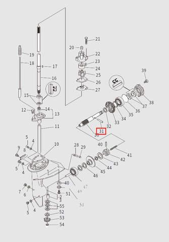Шпонка вала винта для лодочного мотора T9.8 Sea-PRO (13-31)