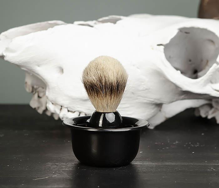 RAZ433 Деревянный помазок для бритья и чаша фото 02