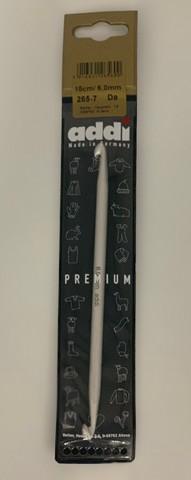 Крючок вязальный из алюминия для кругового тунисского вязания №6, 15 см  ADDI Германия арт 265-7/6-15