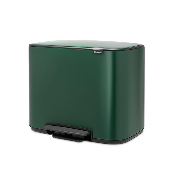 Мусорный бак Bo с педалью (11 л + 23 л), Зеленая сосна, арт. 304125 - фото 1
