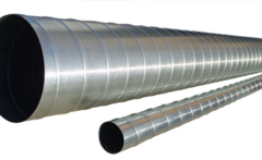 Труба спирально-навитая D 200 (3 м) оцинкованная сталь