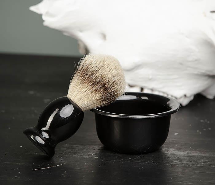 RAZ433 Деревянный помазок для бритья и чаша фото 03