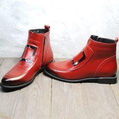 Демисезонные ботинки женские красные Evromoda 1481547 S.A.-Red