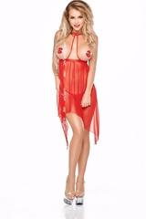 Открытая эротическая сорочка Lucy красная