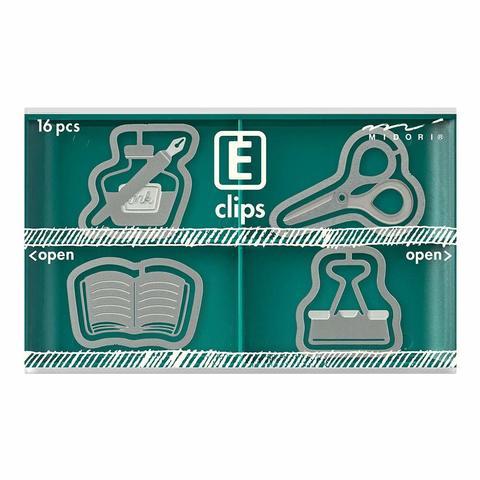 Скрепки Midori E-Clips Stationery (16 шт)