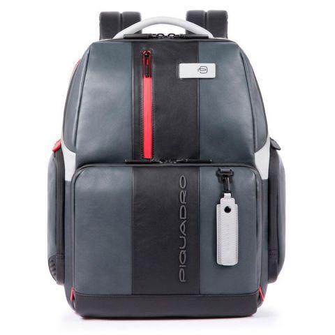 Рюкзак мужской Piquadro Urban CA4532UB00/GRN серый/черный натур.кожа