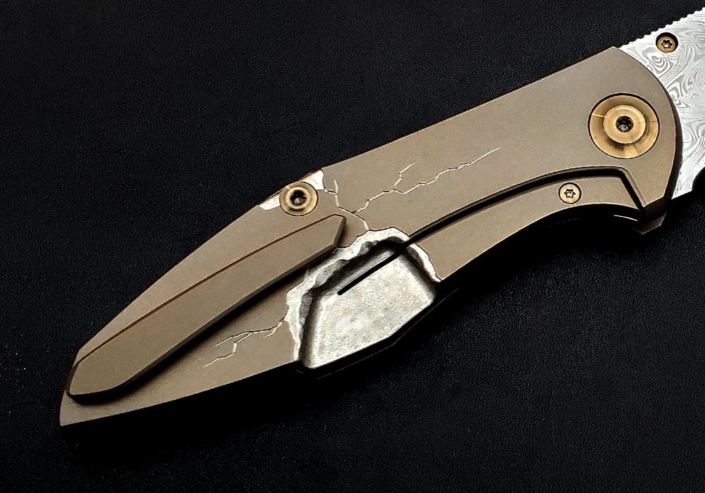 Cheburkov Toucan Skull FULL Custom Damascus