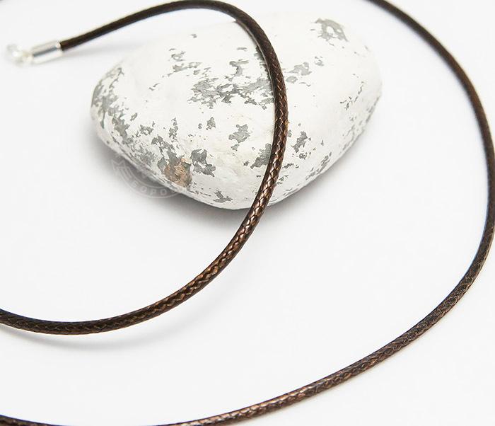 PL277-2 Коричневый шнур на шею из текстиля (55 см)