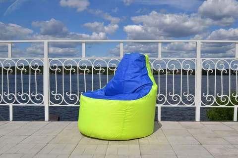 Кресло-мешок «Комфорт» Лайм и Синий