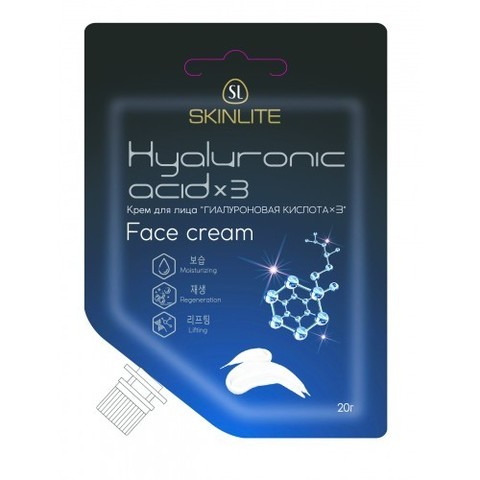 Skinlite Гиалуроновая кислота х3 Крем для лица 20г SL-620