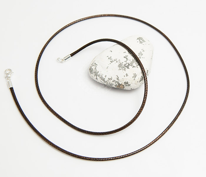 PL277-2 Коричневый шнур на шею из текстиля (55 см) фото 02