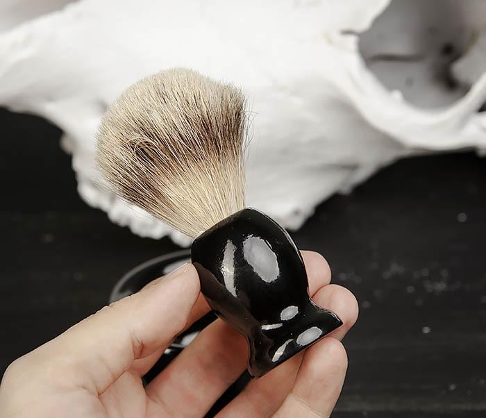 RAZ433 Деревянный помазок для бритья и чаша фото 06