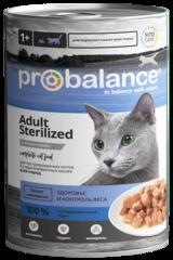 Консервы ProBalance Sterilized для кастрированных и стерилизованных котов и кошек