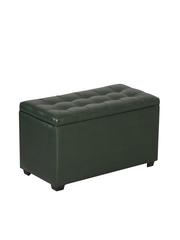 Пф-800-Я Пуфик квадратный (темно зеленый) с ящиком для хранения