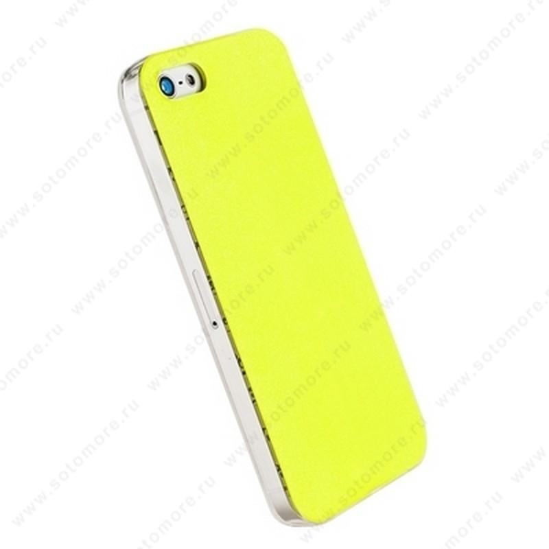 Накладка POMOSER для iPhone SE/ 5s/ 5C/ 5 лимонная
