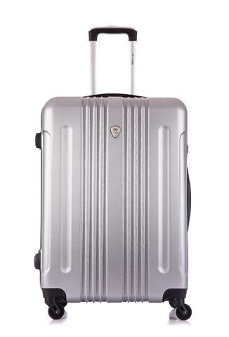 Чемодан со съемными колесами L'case Bangkok-26 Серебро (L)