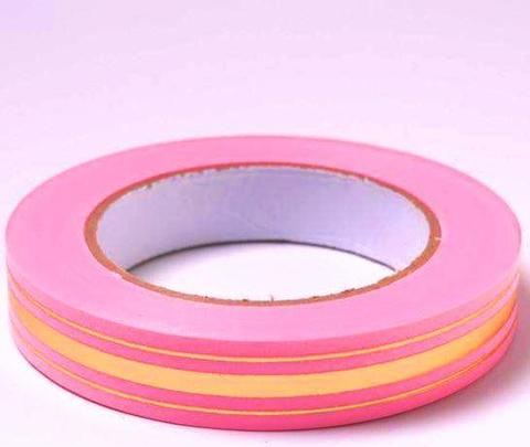 Лента золотая полоса BL (размер: 2 см х 50 ярдов) Цвет: розовый