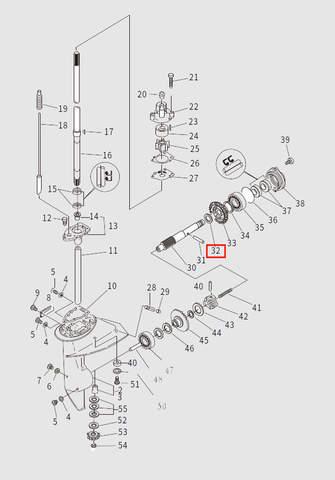 Шайба вала винта для лодочного мотора T9.8 Sea-PRO (13-32)