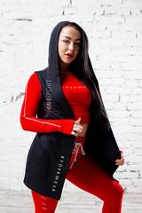 Женский укороченный свитер Ryderwear BSX Red